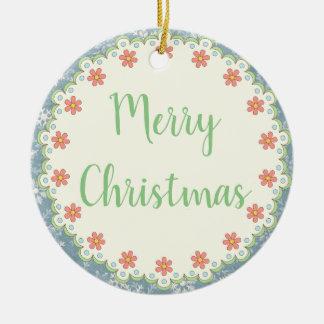 Ornamento De Cerâmica Árvore do Feliz Natal do estilo country/ornamento