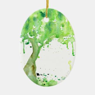 Ornamento De Cerâmica Árvore do primavera do abstrato da aguarela,