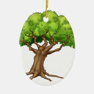 Ornamento De Cerâmica Árvore dos desenhos animados