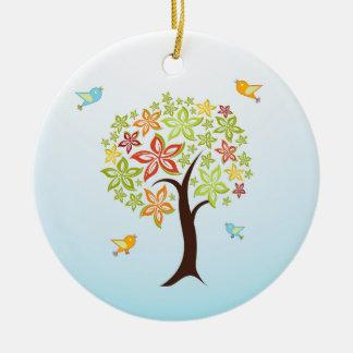 Ornamento De Cerâmica Árvore e pássaros