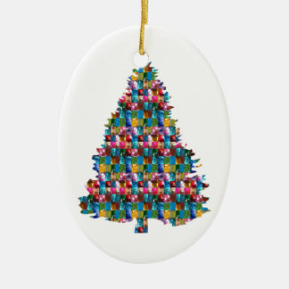 Ornamento De Cerâmica Árvore enchida GEMA do XMAS:  Feliz Natal