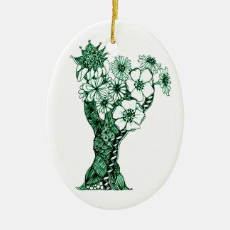 Ornamento De Cerâmica Árvore florescida 2