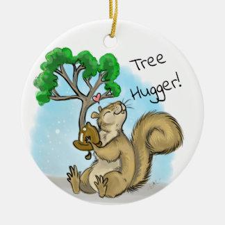 Ornamento De Cerâmica Árvore Hugger! Esquilo