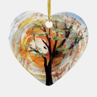 Ornamento De Cerâmica Árvore na árvore