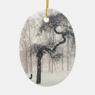 Ornamento De Cerâmica árvore nevado