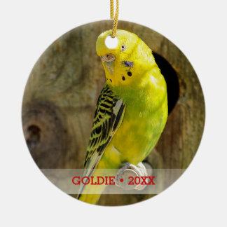 Ornamento De Cerâmica Árvore personalizada da foto do pássaro do animal