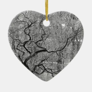 Ornamento De Cerâmica árvore preto e branco