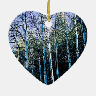 Ornamento De Cerâmica Árvores de Aspen na queda