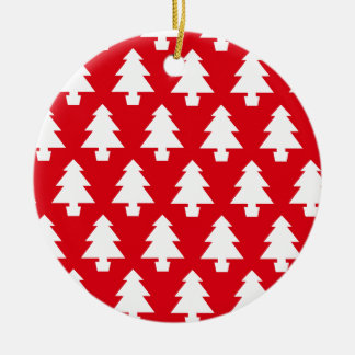 Ornamento De Cerâmica Árvores festivas vermelhas