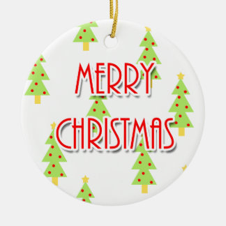 Ornamento De Cerâmica árvores modernas do meio século do Feliz Natal
