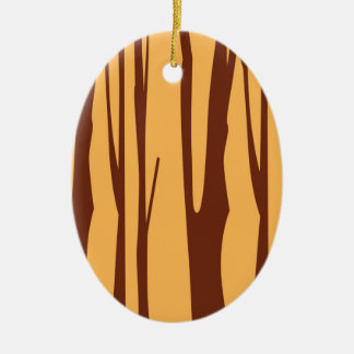 Ornamento De Cerâmica Árvores pintados mão do QUARTO do DESIGN