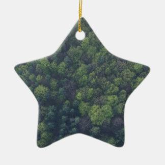 Ornamento De Cerâmica Árvores verdes