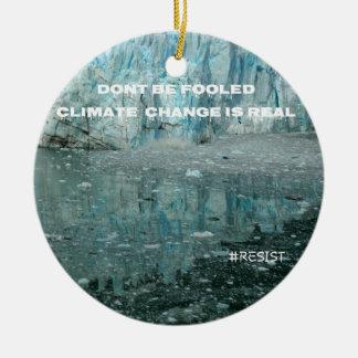 Ornamento De Cerâmica As alterações climáticas são geleira de