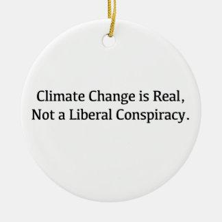 Ornamento De Cerâmica As alterações climáticas são reais, não uma