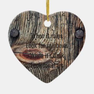 Ornamento De Cerâmica As citações de madeira da foto Dble-tomaram
