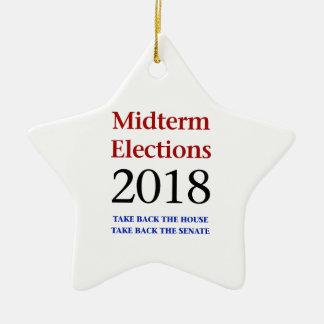 Ornamento De Cerâmica As eleições Midterm 2018-Take suportam o congresso