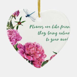 Ornamento De Cerâmica As flores são como friends.JPG