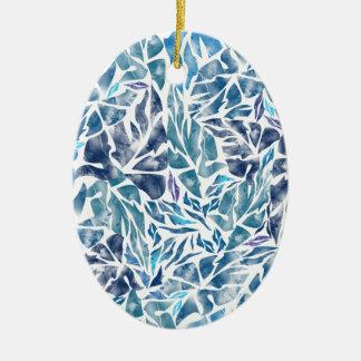 Ornamento De Cerâmica as folhas modelam A