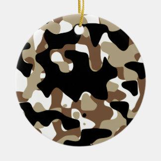 Ornamento De Cerâmica As forças armadas camuflam o teste padrão