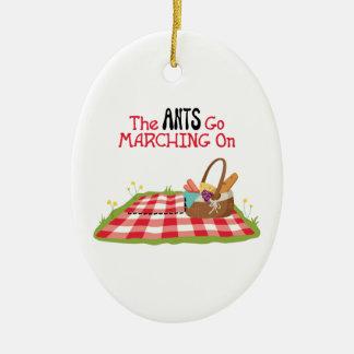 Ornamento De Cerâmica As formigas vão marchar