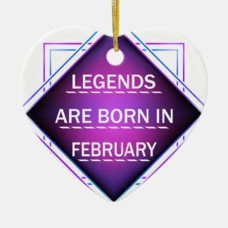 Ornamento De Cerâmica As legendas são nascidas em fevereiro