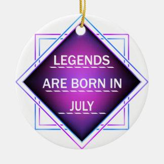 Ornamento De Cerâmica As legendas são nascidas em julho