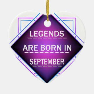 Ornamento De Cerâmica As legendas são nascidas em setembro