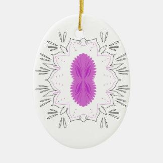 Ornamento De Cerâmica As mandalas picam no branco