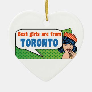 Ornamento De Cerâmica As melhores meninas são de Toronto