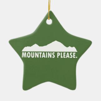 Ornamento De Cerâmica As montanhas satisfazem