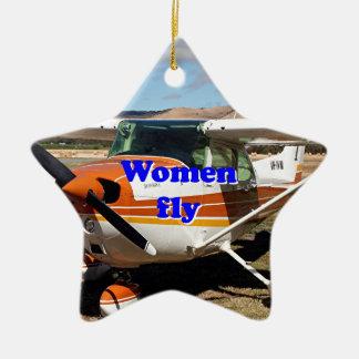 Ornamento De Cerâmica As mulheres voam: aviões altos da asa