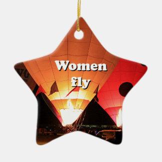 Ornamento De Cerâmica As mulheres voam: balão de ar quente 2