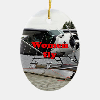 Ornamento De Cerâmica As mulheres voam: plano 1 do flutuador, Alaska