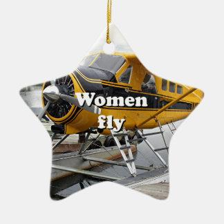 Ornamento De Cerâmica As mulheres voam: plano do flutuador, capa do