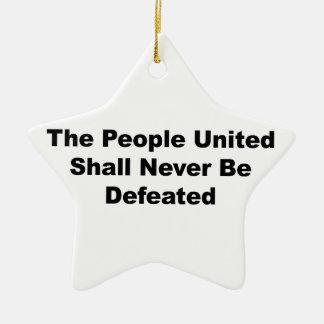 Ornamento De Cerâmica As pessoas unidas serão derrotadas nunca
