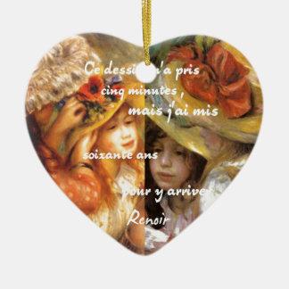 Ornamento De Cerâmica As pinturas de Renoir são abundância do amor