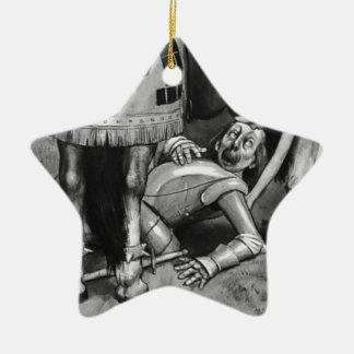 Ornamento De Cerâmica As quedas do cavaleiro branco