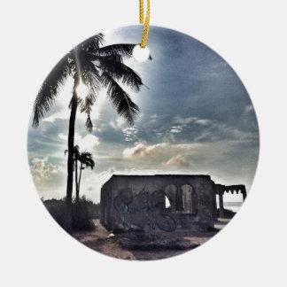 Ornamento De Cerâmica As ruínas na ilha de Bantayan