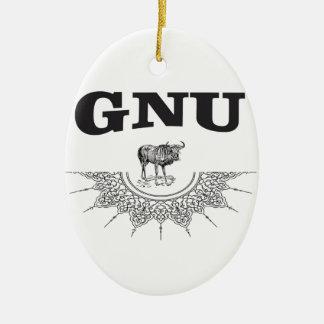 Ornamento De Cerâmica asa do gnu