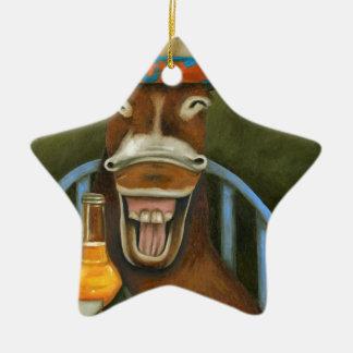Ornamento De Cerâmica Asno de riso