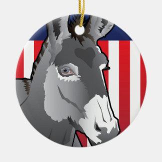 Ornamento De Cerâmica Asno dos EUA, orgulho de Democrata
