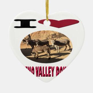 Ornamento De Cerâmica Asnos de Moreno Valley do amor