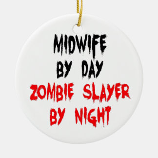 Ornamento De Cerâmica Assassino do zombi da parteira