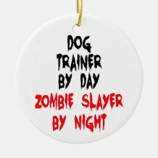 Ornamento De Cerâmica Assassino do zombi do instrutor de cão