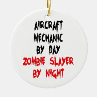 Ornamento De Cerâmica Assassino do zombi do mecânico de aviões