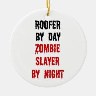 Ornamento De Cerâmica Assassino do zombi do Roofer