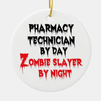 Ornamento De Cerâmica Assassino do zombi do técnico da farmácia