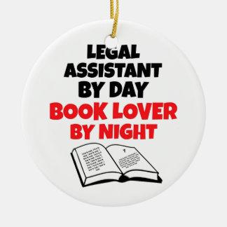 Ornamento De Cerâmica Assistente legal de amante de livro