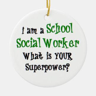 Ornamento De Cerâmica assistente social da escola