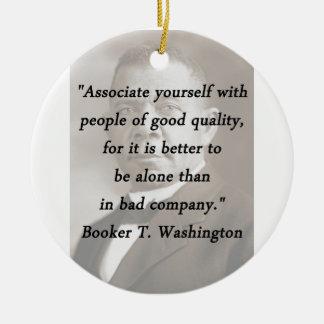 Ornamento De Cerâmica Associado você mesmo - Booker T Washington